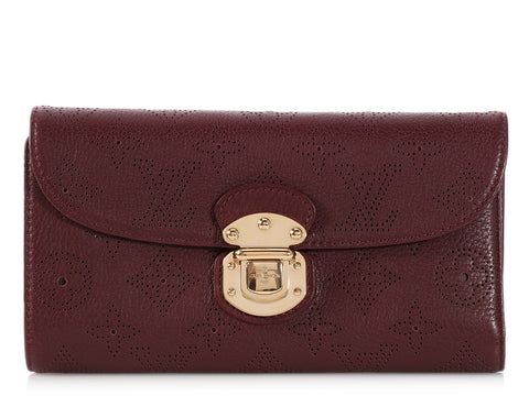 Louis Vuitton Burgundy Mahina Amelia Wallet