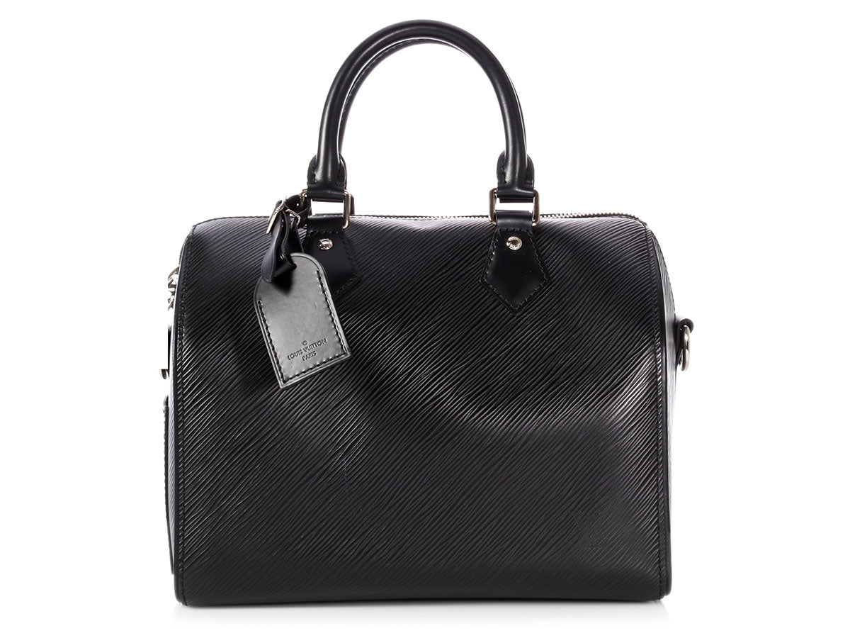 Louis Vuitton Black Epi Speedy Bandoulière 25