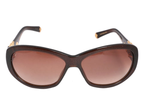 Louis Vuitton Brown Glitter Iris Sunglasses