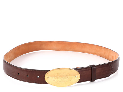 Louis Vuitton Brown Articles de Voyages Belt