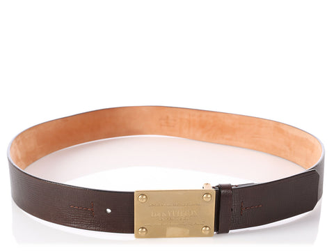Louis Vuitton Brown Leather Surplus Belt