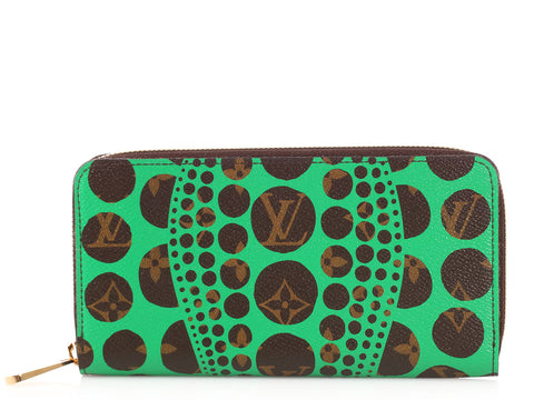 Louis Vuitton Green Pumpkin Dots Wallet