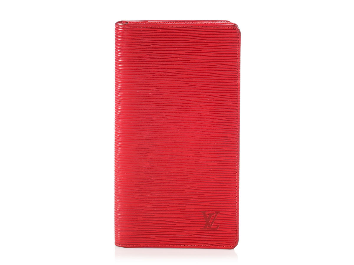 Louis Vuitton Red Epi Vertical Wallet