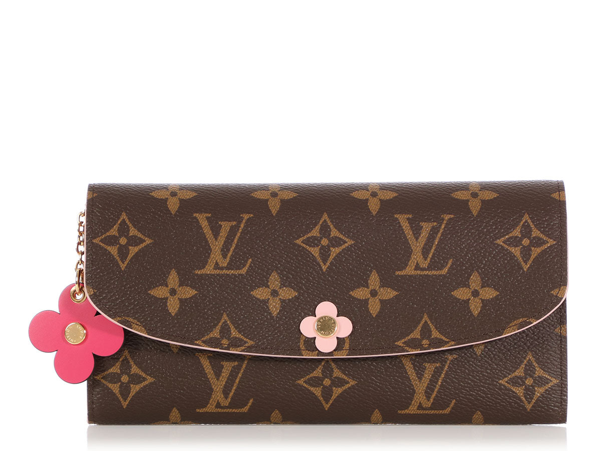 Louis Vuitton Monogram Rose Ballerine Emilie Wallet