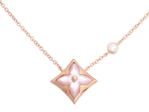 Louis Vuitton 18K Rose Gold Color Blossom BB Star Pendant Necklace