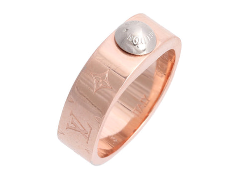 Louis Vuitton Pink Gold Nanogram Ring