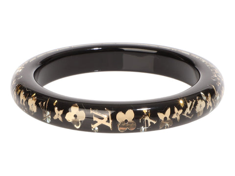 Louis Vuitton Black Inclusion Bangle
