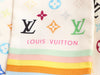 Louis Vuitton White Multicolore Monogram Silk Bandeau