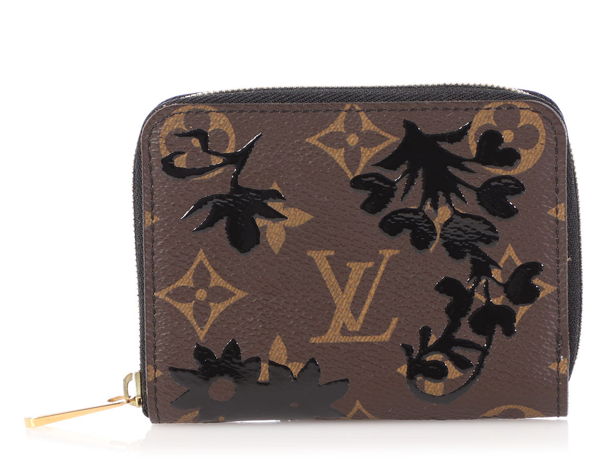 Louis Vuitton Monogram Noir Blossom Zippy Coin Purse