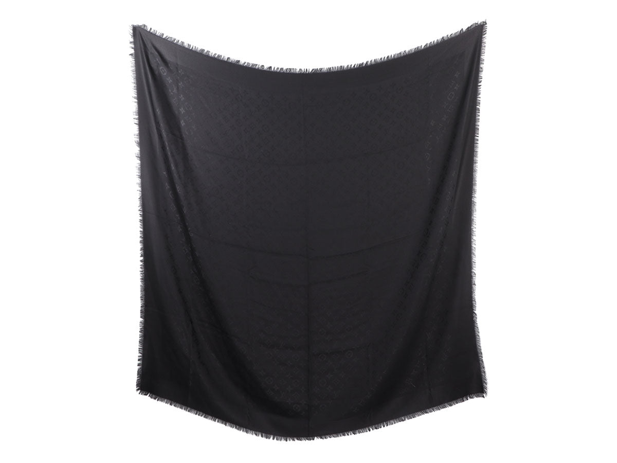 Louis Vuitton Black Monogram Shawl