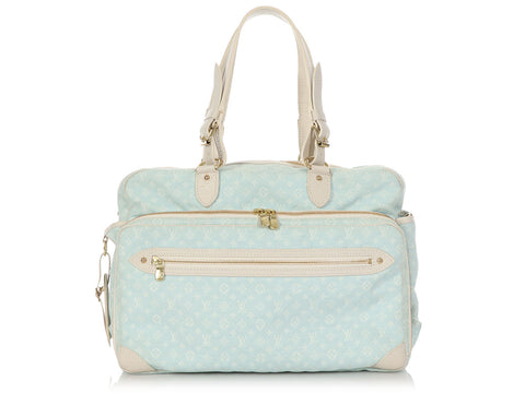 Louis Vuitton Light Blue Monogram Mini Lin Diaper Bag