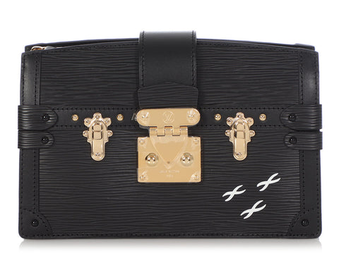 Louis Vuitton Black Epi Trunk Clutch