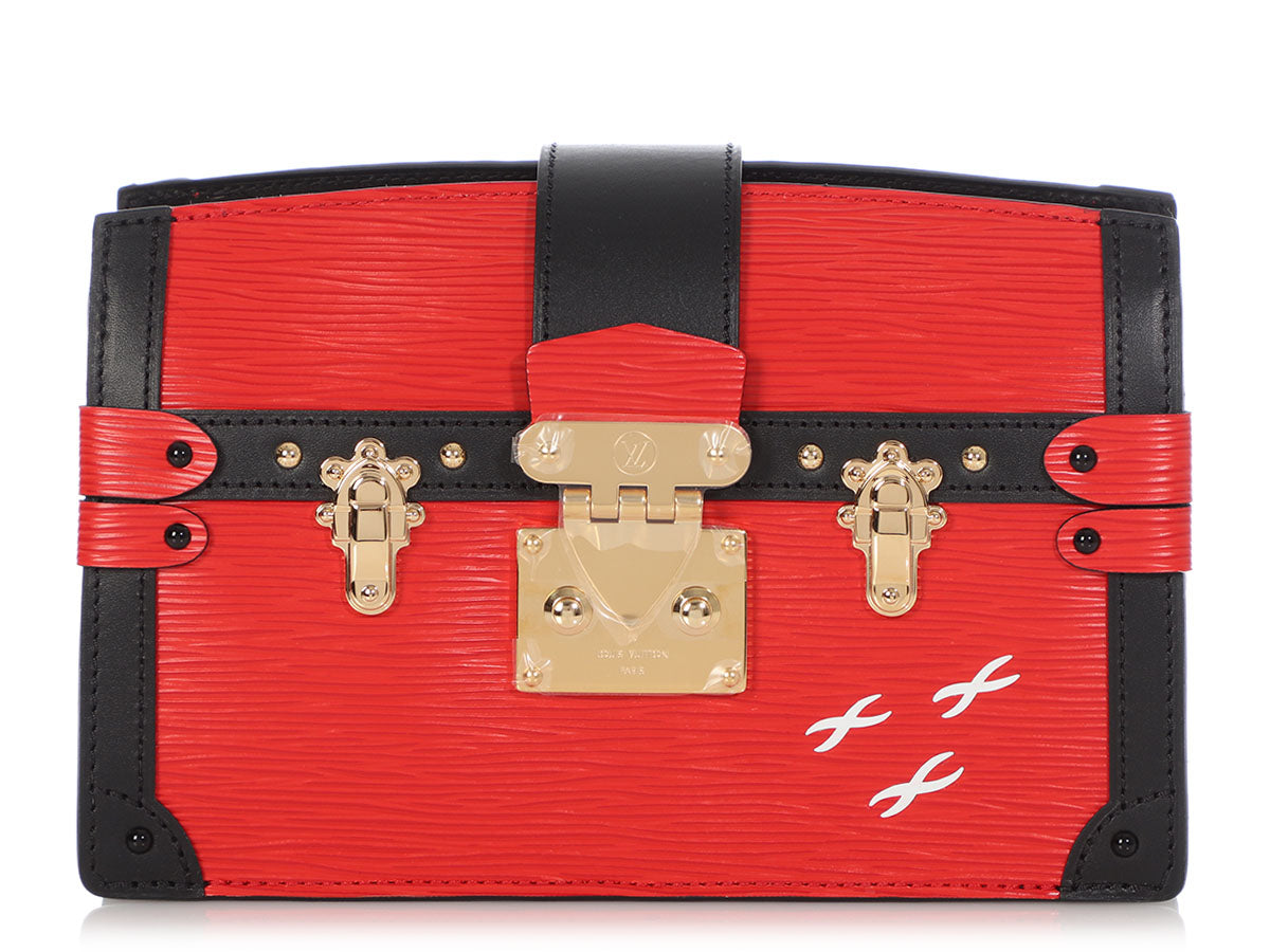 Louis Vuitton Rouge Epi Trunk Clutch