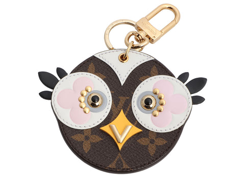 Louis Vuitton Gold-Tone Monogram Owl Key Charm