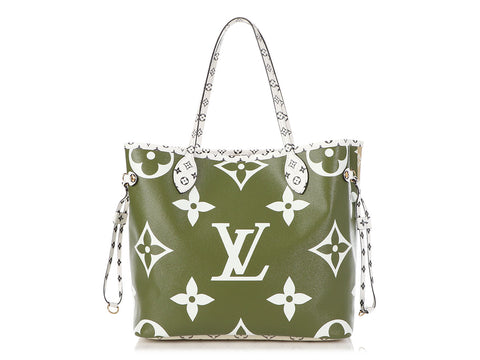 Louis Vuitton Khaki Giant Monogram Neverfull MM