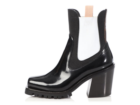 Louis Vuitton Black and White Limitless Ankle Boots