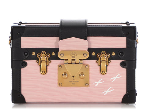 Louis Vuitton Pink Epi Petite Malle Trunk Clutch