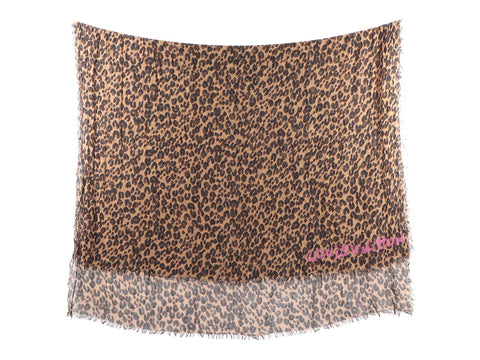 Louis Vuitton Stephen Sprouse Leopard Print Cashmere Silk Shawl