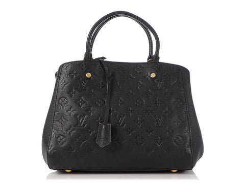 Louis Vuitton Black Monogram Empreinte Montaigne BB