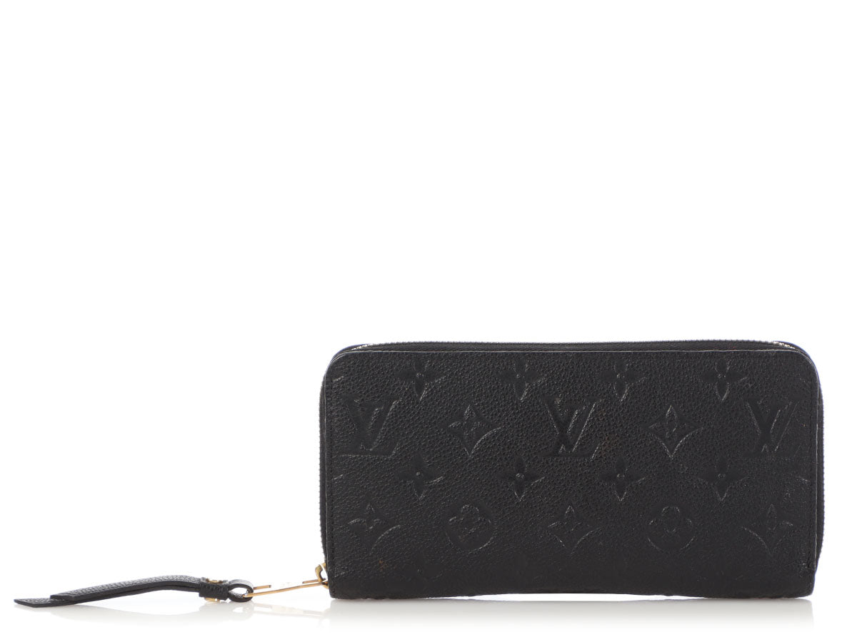 Louis Vuitton Black Monogram Empreinte Zippy Wallet