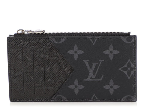 Louis Vuitton Monogram Eclipse Taigarama Coin Card Holder