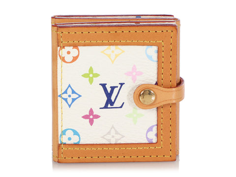 Louis Vuitton White Multicolor Monogram Photo Case