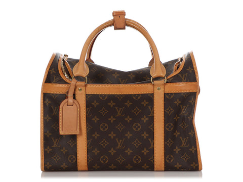 Louis Vuitton Monogram Sac Chien 40 Dog Carrier