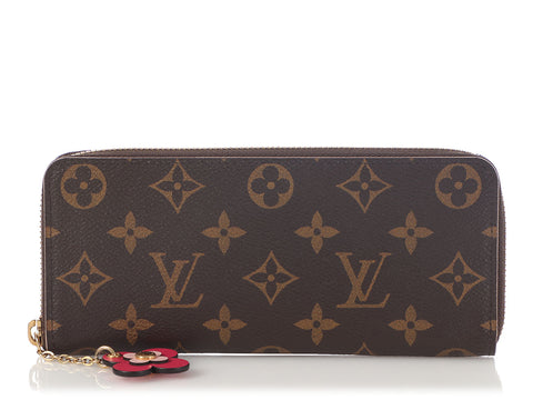 Louis Vuitton Monogram Flower Clémence Wallet