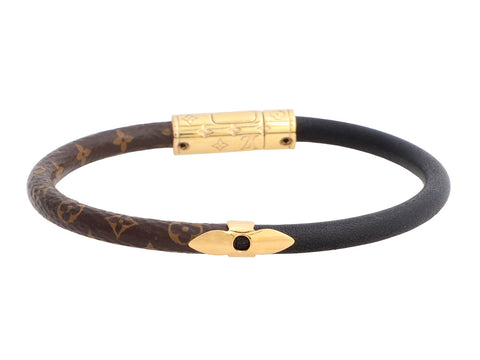 Louis Vuitton Monogram and Black Calf Daily Confidential Bracelet