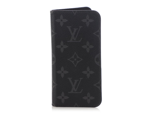 Louis Vuitton Monogram Eclipse iPhone Cell Folio