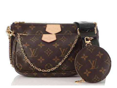 Louis Vuitton Khaki Multi Pochette