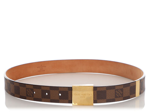 Louis Vuitton Damier Ebène Ceinture Carré Belt
