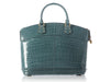 Louis Vuitton Bleu Ciel Crocodile Lockit GM