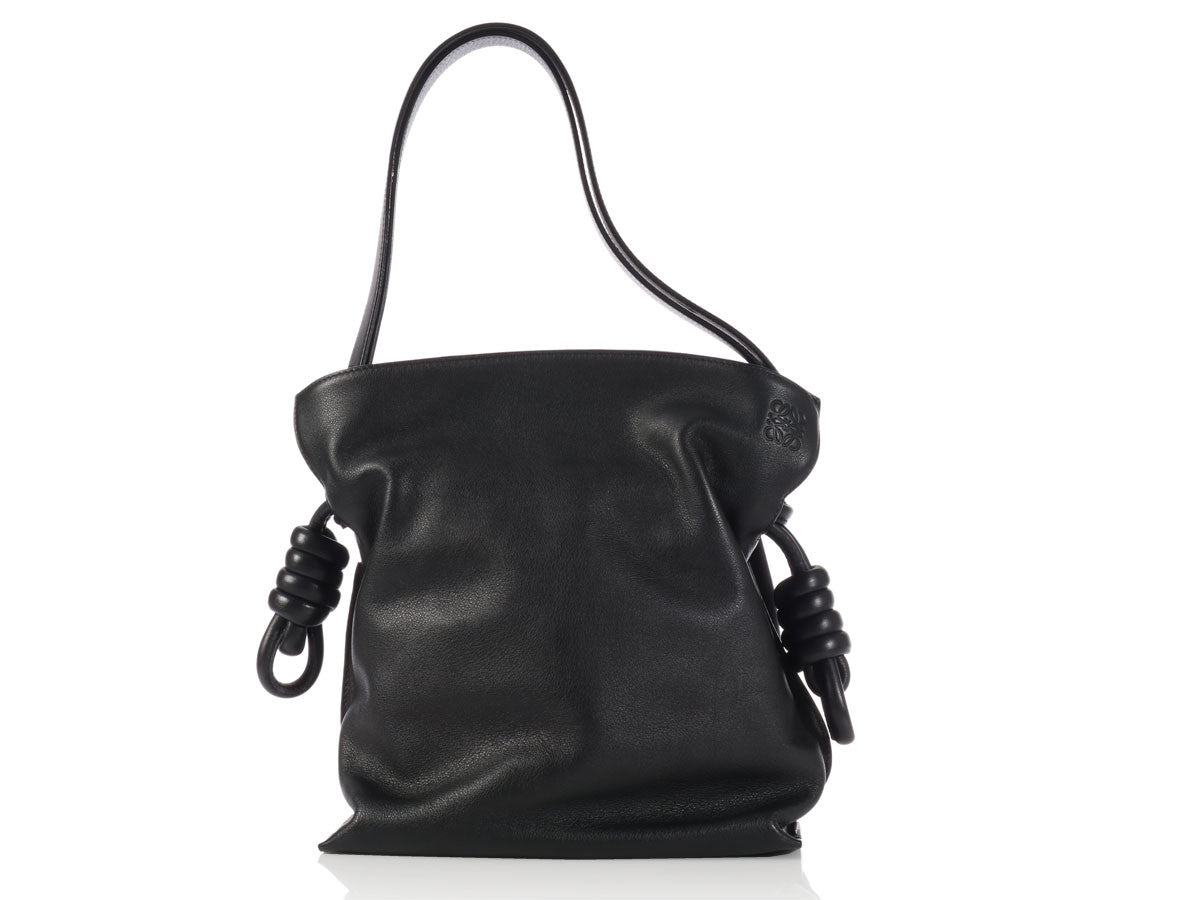Loewe Small Black Flamenco Knot Bag