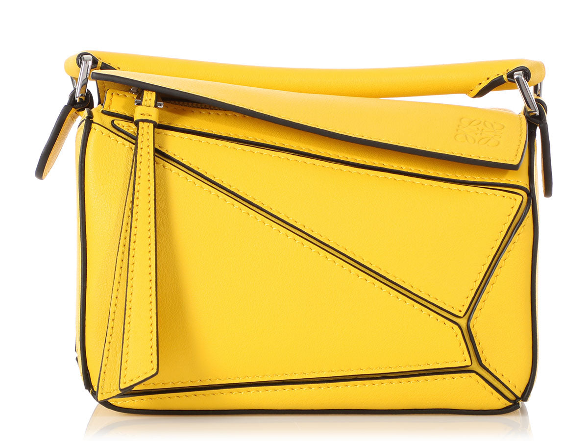 Loewe Mini Yellow Puzzle Bag
