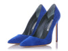 Manolo Blahnik Blue Suede Pumps