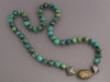 MCL by Matthew Campbell Laurenza Sterling Silver Multicolor Turquoise Sapphire Necklace