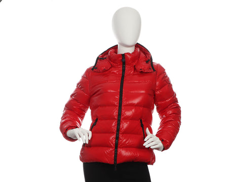 Moncler Women's Red Bady Slim Short Down Jacket