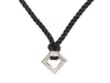 Michael Dawkins Sterling Silver and Diamond Cord Necklace