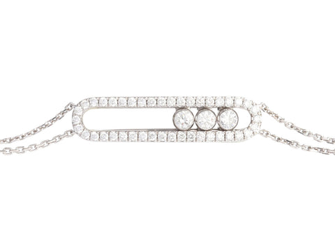 Messika 18K White Gold Move Classic Pavé Diamond Bracelet
