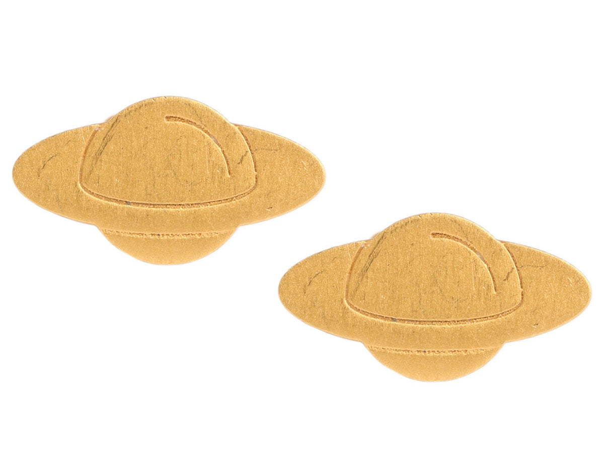 Marie-Hélène de Taillac 22K Gold Saturn Earrings