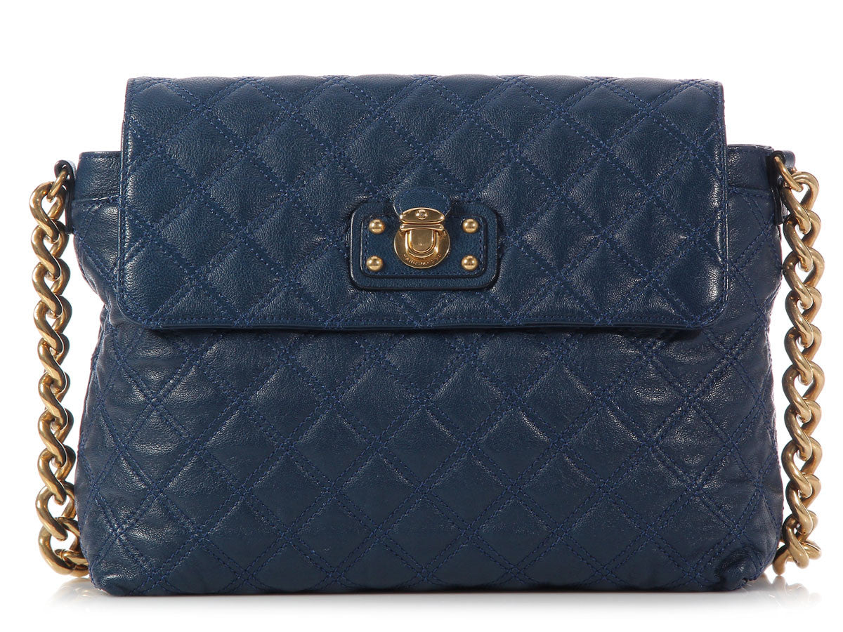 Marc Jacobs Navy Quilted XL Single