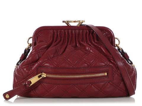 Marc Jacobs Burgundy Little Stam Crossbody Bag