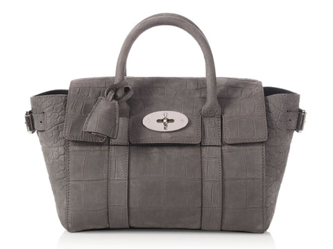 Mulberry Mini Mole Gray Bayswater Buckle