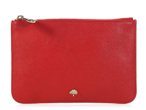 Mulberry Red Zip Top Pouch