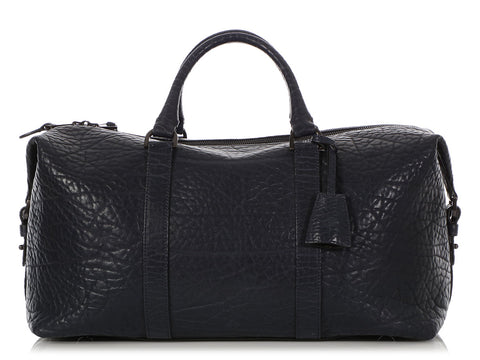 Mulberry Small Midnight Shrunken Calfskin Clipper Duffle