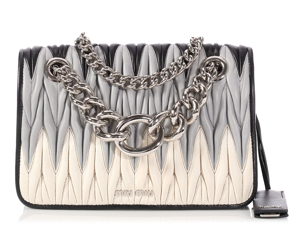 Miu Miu Medium Club Matelassé Flap Bag