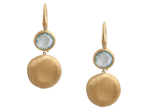 Marco Bicego 18K Yellow Gold and Blue Topaz Drop Earrings
