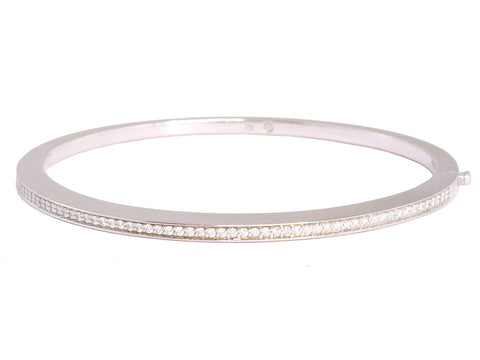 Movado 18K Gold Diamond Bangle