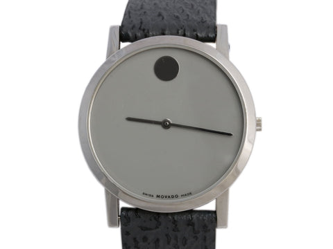 Movado Stainless Steel Gray Modern 47 Watch 39mm